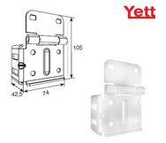 Боковая опора регулируемая для ворот с вертикальными направляющими без роликодержателя Y313N/RAL9003