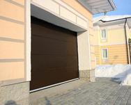 Ворота секционные серии RSD01SC №1 ширина 2500 высота 2115 волна, коричневые