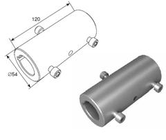 """Муфта соединительная (120 мм) для вала 1.25"""" в сборе 25034-1"""