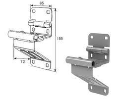 N25234H/RAL9003 Боковая опора укороченная для панелей с новой формой профиля