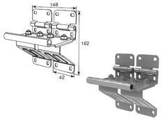 Боковая опора усиленная с удлиненным держателем ролика N25234-33R/RAL9003
