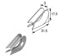 Коуш для троса 3 мм 25801
