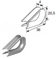 Коуш для троса 4 мм 25802