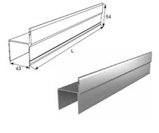 """Алюминиевый профиль """"Ц""""-образный металлик 80030/M L=6200mm"""