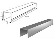 """Алюминиевый профиль """"П""""-образный металлик 80043/M L=6200mm"""