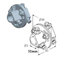 AC-5/4 муфта соединительная для вала D 31,75mm