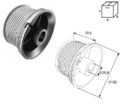 Барабан DH11011 для ст. подъема М102 H3250 (пара)