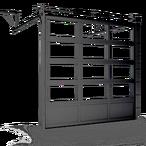 Промышленные панорамные секционные ворота ISD02