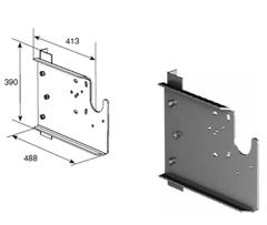 Кронштейн дополнительный выносной для вертикального подъема вал снизу DH-OKT83N