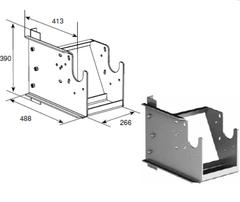 Кронштейн выносной универсальный для вертикального подъема вал снизу DH-OKT83S