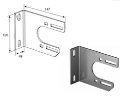 Внутренний опорный кронштейн крепления пластины с подшипником (86/111/127) DH-PL03