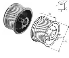 Барабан DH11001 (М102; Н2750) для стандартного подъема