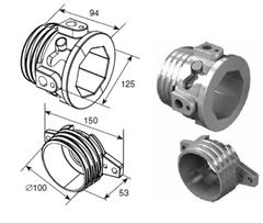 Окончания пружин для октагонального вала RV70 DH12001OKT