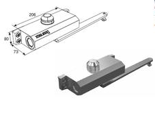 Доводчик рычажный для калитки DOORMAX DH25153