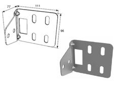 """Кронштейн угловой для соединения двойных направляющих и """"С""""-профиля DH25239"""
