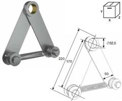 """Устройство DH25243 натяжения цепи для вала 1.25"""" для системы двойного вала"""