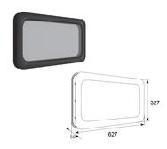 Окно акриловое DH85603 для панелей толщиной 40мм с двойным стеклом 635х330 мм
