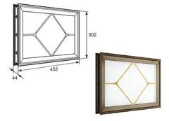 """Окно акриловое 452х302 коричн. с раскладкой ромб для панелей со структурой """"филенка"""" DH85630"""