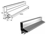 """Профиль алюм. """"Верхний усилитель калитки"""" металлик DHSW-00090/M L=6200mm"""