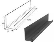 Профиль П-образный неравнополочный металлик DHSW-00300/M L=6200mm