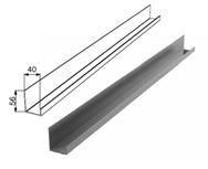 """Профиль алюминиевый """"П-образный неравнополочный RAL8014 DHSW-003502/M L=6200mm"""