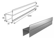 """Профиль алюм. """"Ц""""-образный усиленный металлик DHSW-20090/M L=6200mm"""