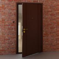 Дверь DoorHan/880/2050/ЭКО/гладк.сим/гладк.сим/антик медь/левая/с угл.рамой/антик медь/сереро/ключ-вертушка