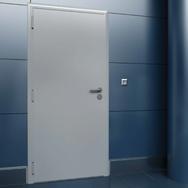 Дверь DoorHan/880/2050/техническая/гладкая/гладкая/9007/левая/с врезной рамой/ключ-ключ