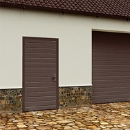 Дверь DoorHan/980/2050/УЛЬТРА(B)/525/8014доска/9003 доска/правая/с угловой рамой/серебро/ключ-ключ