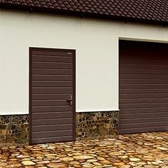 Дверь DoorHan/980/2050/УЛЬТРА(B)/525/8017доска/9003 доска/правая/с угловой рамой/серебро/ключ-ключ