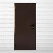 Дверь DoorHan/880/2050/техническая/гладкая/гладкая/8017/левая/с врезной рамой/ключ-ключ