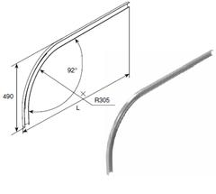 Изгиб горизонтальной направляющей SPV1114 R305 H490 L=5000