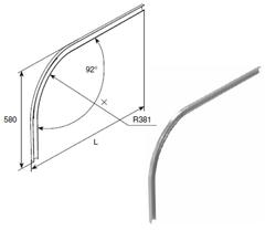 Изгиб горизонтальной направляющей SPV1134 R381 H580 L=5000