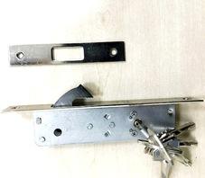 KaleSB Комплект механического врезного замка с падающим ригелем в сборе для раздвижной автоматической двери