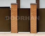 Комплект стандартный №1 калитки 1220 х 2200 коричневый RAL8014