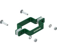 KIT/HD-60/RAL6005 Комплект хомута двухстороннего для столба 60х60 мм
