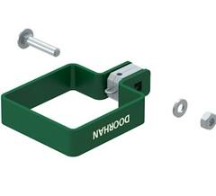 KIT/HO-60/RAL6005 Комплект хомута одностороннего для столба 60х60 мм