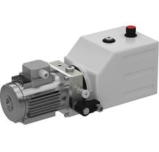 SKS-(D08-2)-1 Насос гидравлический SKS-D08 для пл. с пов. аппарелью с двумя подъёмными цил. 380В/3ф/50Гц/1,1 кВт/