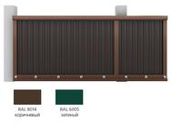 Набор №1 для сборки сдвижных ворот 3500х 2100 (коричневый RAL8017) под зап профл (рек высота профл - 1850 мм)