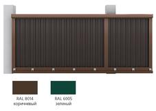 Набор №4  для сборки сдвижных ворот 4000х 2100 (зеленый RAL6005) под зап профл (рек высота профл - 1822 мм)