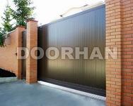 Комплект откатных ворот № 1 коричневый RAL 8014 (3500 х 2100)