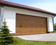 Ворота секционные серии RSD01SC №1 ширина 2500 высота 2115 филенка, золотой дуб