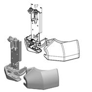 RBI-40.100L левый кронштейн роликовый нижний