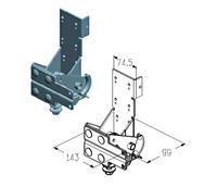 RBI-40.110L кронштейн роликовый нижний