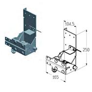 RBI-40.120DL левый кронштейн роликовый нижний