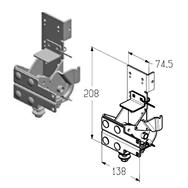 RBI-40.120L левый кронштейн роликовый нижний