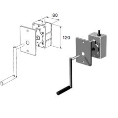 Укладчик для корда редукторный RHF40 (с рукояткой и тросом 6м)