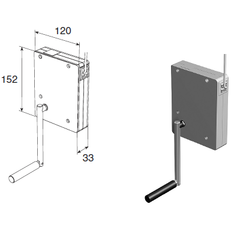 Укладчик для шнура редукторный RHR (без рукоятки)