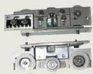 Роликовая опора в сборе для одной створки привода FAAC A100 (пара)