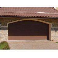 Ворота секционные серии RSD01SС №15 ширина 2500 высота 2515 коричневые